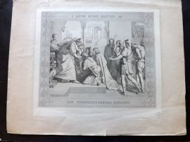 Hoffmann after Peter von Cornelius 1843 Print Joseph Reveals Himself to Brothers